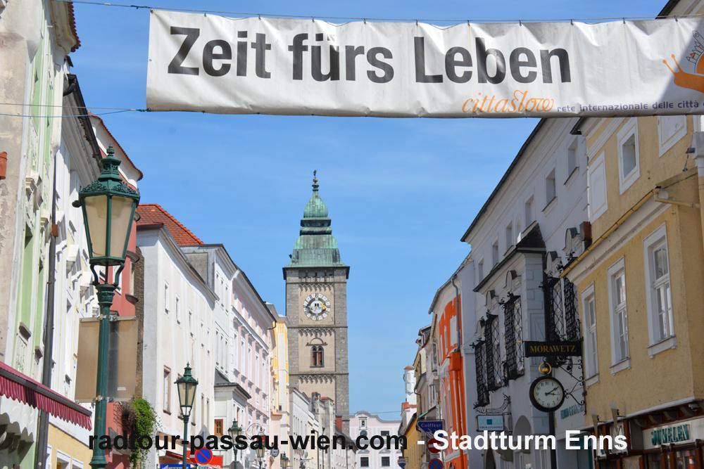 Fietstocht Passau-Wenen - Stadstoren Enns