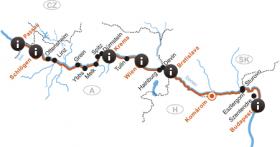MS Primadonna op de Donau - kaart