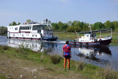 Rad & Schiff im Donaudelta